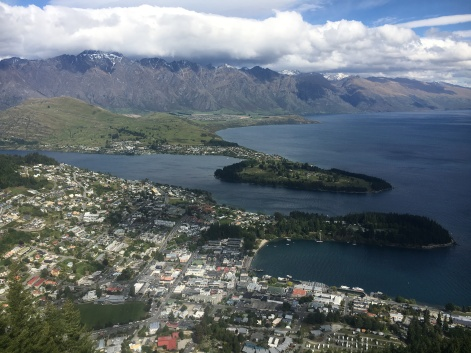 View of Queenstown from top of Gondola