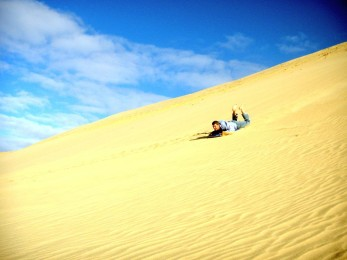 Sand dunes, 90 mile beach, New Zealand