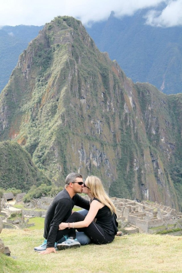 Kissing at Machu Picchu