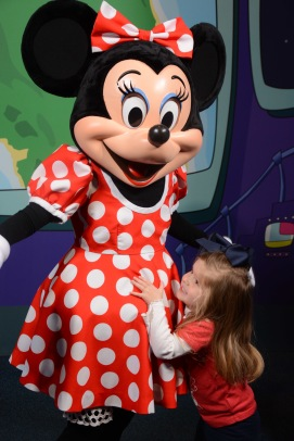 Meeting Minnie Mouse at the Character Spot!
