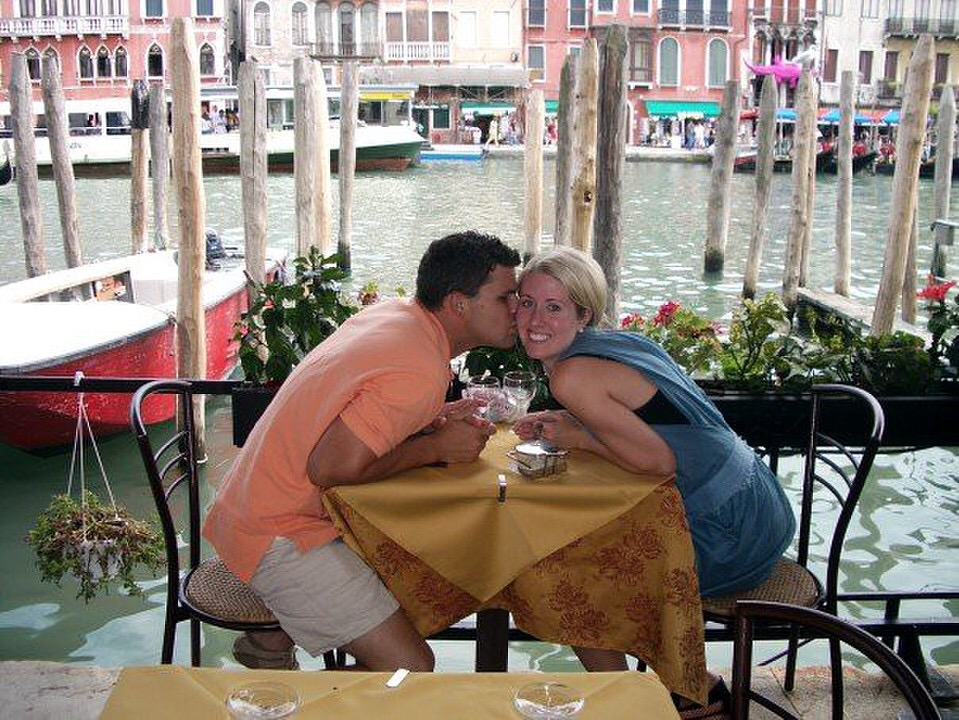 Kissing in Venice