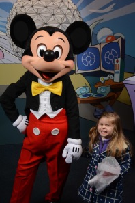 Meeting Mickey Mouse at the Character Spot!