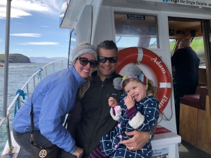 Our family of 3 on the Fungi Dolphin Cruise
