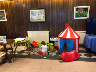 Play area in lounge, Hotel Garbi