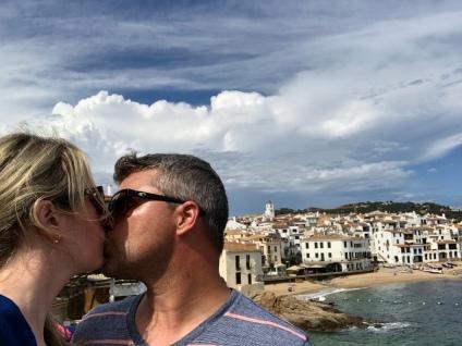 Husband and me :) Calella de Palafrugell